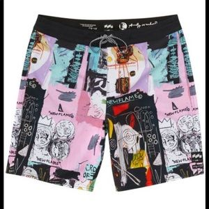 Billabong Andy Warhol Basquiat new flame shorts